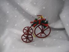 red tri cycle ornament metal