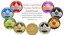 Nickle Plated AA Founders Medallion Anniversary Coin  AA Any Year & Color