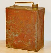 Vintage ESSO Petroleum Spirit 2 Gallon Fuel Petrol Can - Square Shape - Red