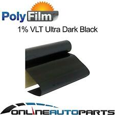 Window Tint Film 1% Extreme Dark Black 50cm x 6m Roll Glass Car Home Office