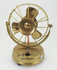 """Batterry Powered Brass Vintage Fan With LED Light Front ,maritime collectible 5"""""""
