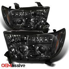 07-13 Toyota Tundra 08-16 Sequoia Smoke Dual Halo Projector LED Headlights