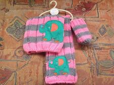 BABY GIRLS NEXT HAT,SCARF & MITTS SET 3-9 MONTH BNWT