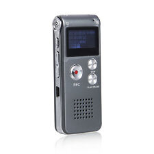 8GB Digital Voice Audio Telephone Recorder Mic Music MP3 Player with Earphone