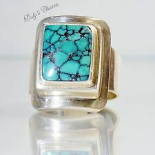 Sajen Sterling Silver Turquoise Ring Size 8