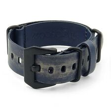 StrapsCo Ultra Distressed Leather Watch Band Mens Strap w/ Black Buckle