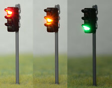 New 1 x Traffic Signal R/Y/G LED Street Light O Scale 9cm