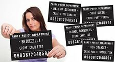 Outrageously Hilarious Mug Shot Signs - Girls Night Out, Hen Party - 20 Signs