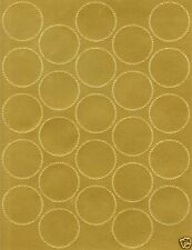 Serrated Glossy Starburst Gold Foil Seal - 250 count (10 sheets) Certificates