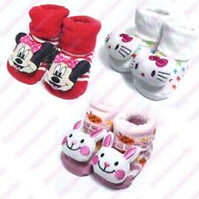 3x SET Newborn Baby Anti Slip Socks - Cute Kids Girl Toddler Warm Shoes - NEW