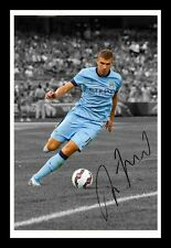 EDIN DZEKO - MANCHESTER CITY AUTOGRAPHED SIGNED & FRAMED PP POSTER PHOTO