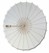 6x White Paper Umbrella Wedding Party Parasol D-13398-1 S-2194x6