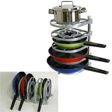 Pan Pot Organizer Frying Pan Stand Holder tray Kitchen Rack stainless steel now