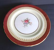 "AYNSLEY,ENGLAND,""DORCHESTER/COVENTRY/WENDOVER"" MAROON REG.#754322-4300 DINNER PL"