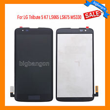 Black LCD Touch Screen Digitizer Assembly For LG Tribute 5 K7 LS665 LS675 MS330