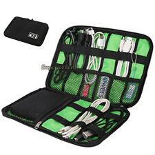 Portable Organizer Bag Case Cables USB Flash Drive Chargers Headsets 1Pcs Black