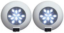 2 NEW SEASENSE WHITE LED INTERIOR TASK DOME LIGHTS,FLUSH MOUNT TRAILER LAMP,12V