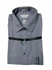 Van Heusen Men's Size 16 1/2 34/35 Grey Classic Fit Button Down Pin Cord Shirt