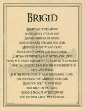 BRIGID - POSTER  GODDESS Wicca Pagan Witch Witchcraft Goth BOOK OF SHADOWS