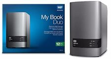 WD 12TB My Book Duo Desktop RAID External Hard Drive 6TB X 2 WDBLWE0120JCH-