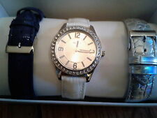 GUESS Watch Set U0351L1 Women's with three Interchangeable leather straps