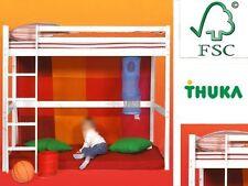 Cameretta bambini letto a soppalco bianco + rete letto FLEXA BASIC