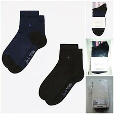 GENUINE JACK WILLS Girls Ladies Womens Allastone 2 Pack Socks Black/Navy BNWT