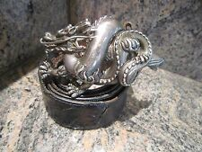 Rare!!! Kieselstein-Cord Sterling Dragon Buckle And Black Alligator Belt