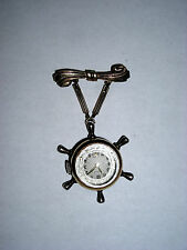 Lyceum Nautical Pendant Watch Working 10K Rolled Gold Plate Vintage