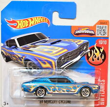HOT WHEELS 2016 HW FLAMES #10/10 '69 MERCURY CYCLONE SHORT CARD