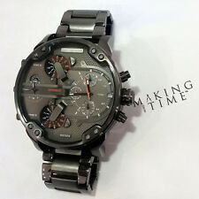 NEW BOXED DIESEL DZ7315 MR BIG DADDY 2.0 CHRONOGRAPH WATCH GUNMETAL GREY