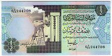 **   LIBYE     1/2  dinar   1991   P-58c    UNC   **