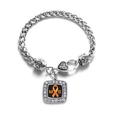 Inspired Silver Multiple Sclerosis Awareness Charm Bracelet