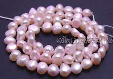 """SALE Small 6-7mm Natural Light Pink Freshwater BAROQUE Pearl Loose Beads 14""""-625"""