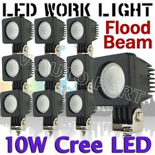 10X 10W Cree LED Work Light Flood beam Off Road Car Boat Vehicle Jeep Truck ATV