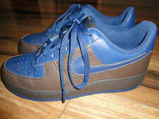 Nike Air Force 1 Low Size 10 Style #317295-241 Chocolate Brown & Navy Blue