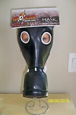 ADULT GP-5 BLACK GAS MASK TOXIC BIOHAZARD LATEX FACE MASK COSTUME TB26519
