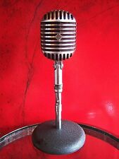 Vintage 1940's Stromberg Carlson MC-31 dynamic microphone Fatboy old w stand