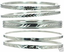 Steel by Design Set of 5 Diamond Cut Bangles Bracelet '
