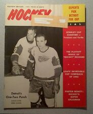 """""""HOCKEY PICTORIAL 65 MAURICE RICHARD, JEAN BELIVEAU, ROOKIE PHIL ESPOSITO, HOWE"""""""