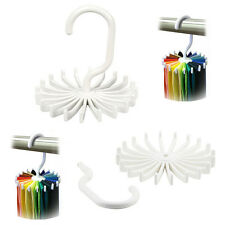 Tie Rack Rotating Adjustable Organizer Belt Scarf Holds 20 Items - 2 Pack
