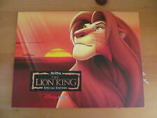 Disney Store The Lion King Special Edition Lithograph Prints Set of 4 w/ Binder