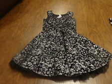 BEAUTEES 12 GORGEOUS BLACK WHITE FLORAL DRESS POOFY  GIRLS