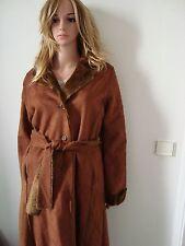 Manteau femme fourré camel