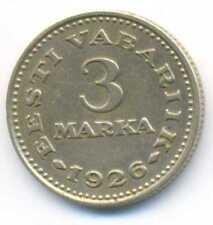Estonia Estonian Nickel-Bronze 3 Marka 1926 VF/XF ***RARE***