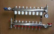 IN FLOOR HEAT MANIFOLD 8 LOOP- BRANCH/OUTDOOR WOOD FURNACE BOILER,PEX MANIFOLDS