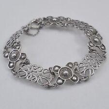 Vintage Shetland Silvercraft hallmarked silver St Ninian's Cross design bracelet