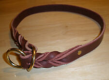 "NEW LATIGO LEATHER 3/4"" X 26"" DOG SLIP/CHOKE COLLAR  SOLID BRASS RINGS"