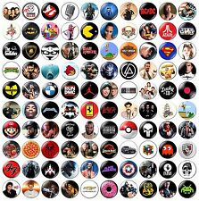 1 x Choose Your Own 32mm BUTTON PIN BADGE Retro Heavy Metal Movies Bands Hip Hop