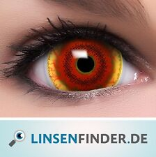 "Mini Sclera Lenses ""Red Monster"" rote Kontaktlinsen Farbige Halloween Linsen"